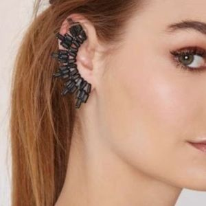 Nasty Gal Viva Glam charcoal gray right ear cuff